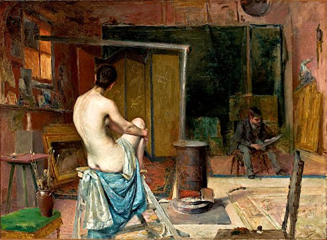 José Vital Branco Malhoa: L'atelier del pittore
