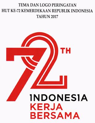 gambar tema dan Logo Peringatan Hut RI Ke 72 Tahun 2017