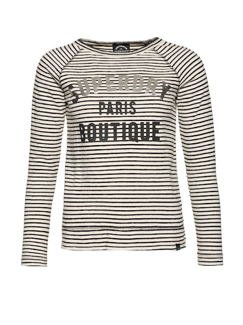 superdry armour stripe graphic top