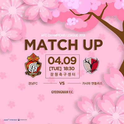 Live Streaming Gyeongnam FC vs Kashima Antlers 9.4.2019