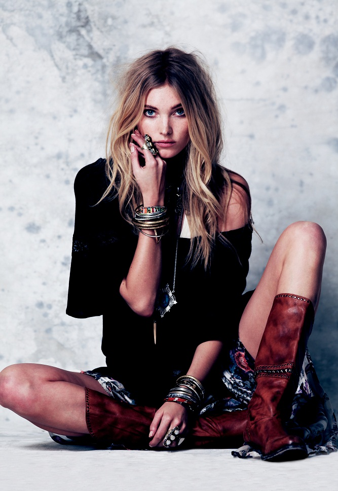 Elsa Hosk is a Roaming Beauty in Free People's February Lookbook 2013