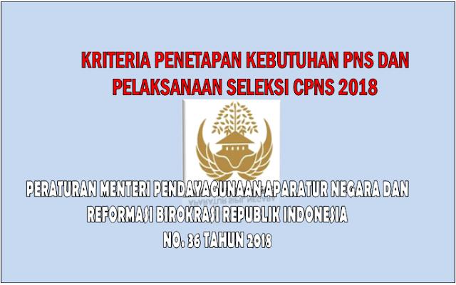 Berikut Kriteria Penetapan Kebutuhan PNS dan Pelaksanaan Seleksi CPNS 2018