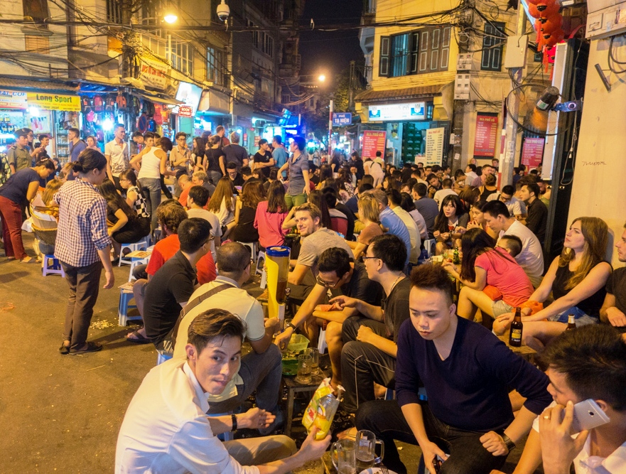Bia hoi Corner (beer) in Old Quarter Hanoi Map