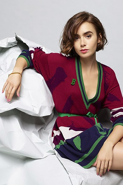 Lily Collins in Karl Lagerfeld's photo shoot
