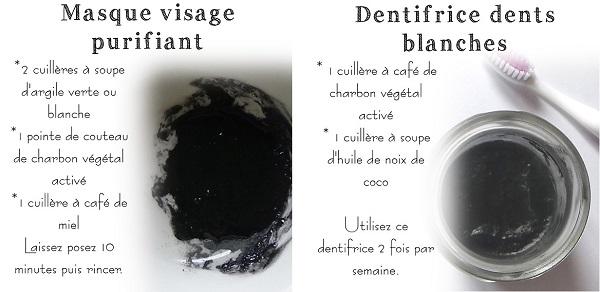 recette beauté charbon végétal