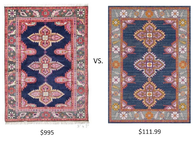 Bungalow Rose Persian Inspired Rug Caitlin Wilson Kismet Rug Look alike