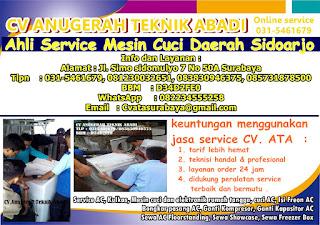 Ahli Service Mesin Cuci Daerah Sidoarjo
