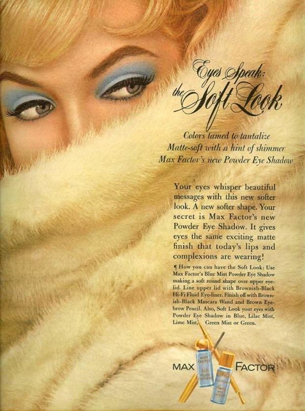 Anúncios vintage de maquiagem, anúncios vintage, publicidade vintage, vintage, vintage makeup ad, vintage ad, história da maquiagem, maquiagem no decorrer das décadas, anúncios de maquiagem dos anos 60