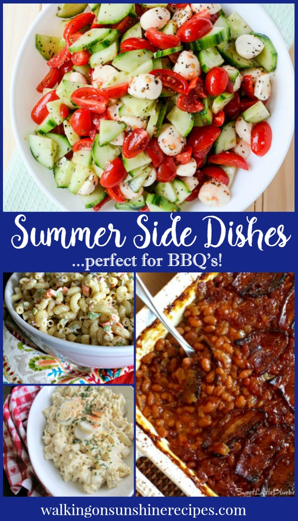 The perfect side dishes for a BBQ and all your summer entertaining featured on Walking on Sunshine.