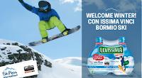 Logo Con Levissima vinci 150 Skipass per gli impianti di Bormio