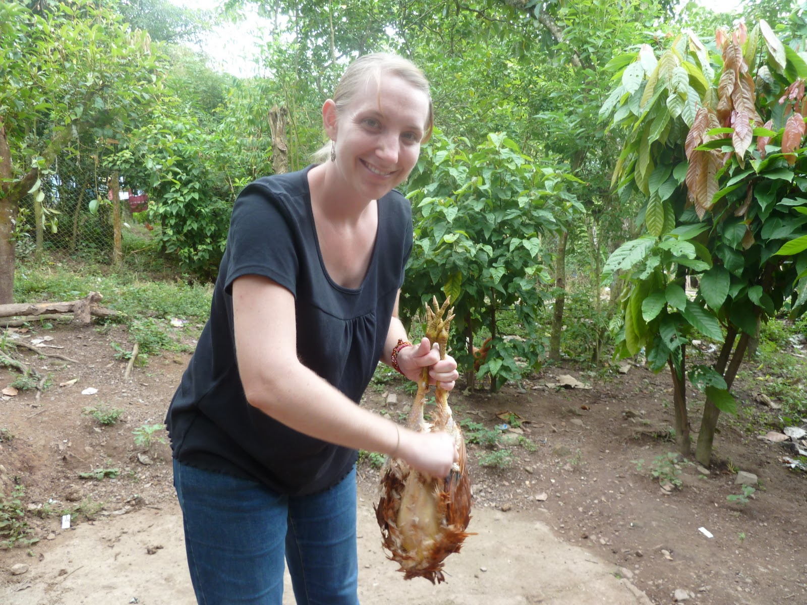 Woman Slaughter chicken