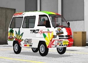 Livery Angkot Bussid Putih Bob Marley