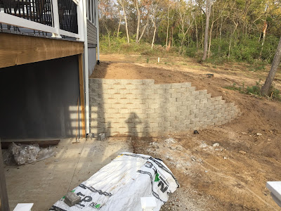 @smithbuilding, #millsnewhouse, retaining wall