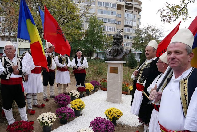 Bust of Skanderbeg erected in Craiova, Romania