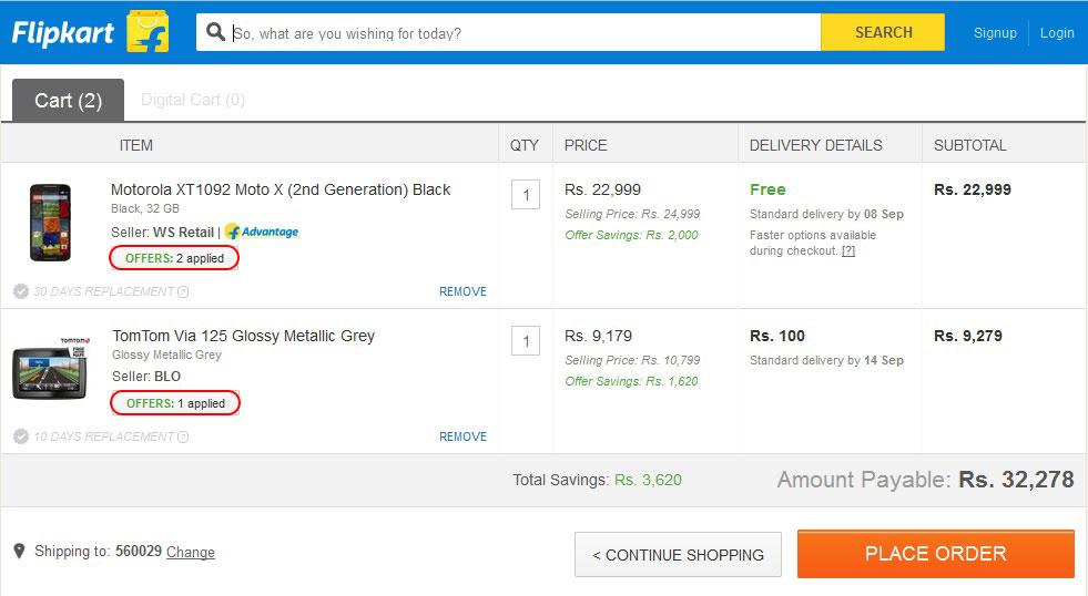 Flipkart discount coupon codes