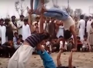 Amazing Pakistani Street Performer