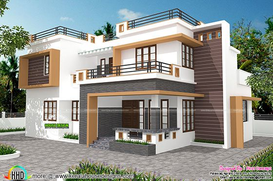 Contemporary home design by First concept, Palakkad