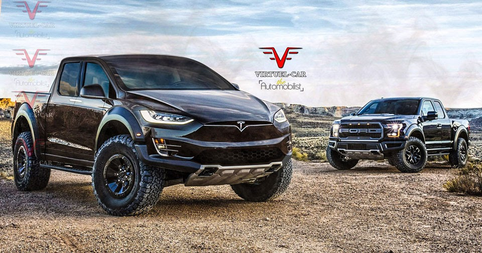 Electric Pickup Truck >> What If Tesla's Pickup Truck Went After The Ford F-150 Raptor?
