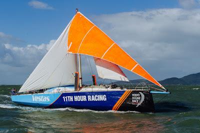 Après son dématage sur la Volvo Ocean Race, Vestas est arrivé à Itajai.