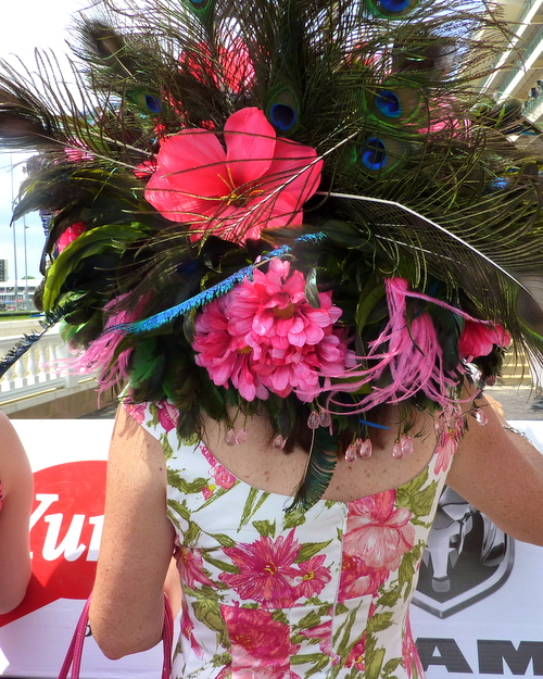 A lovely hat at the Kentucky Derby ♥ KitchenParade.com