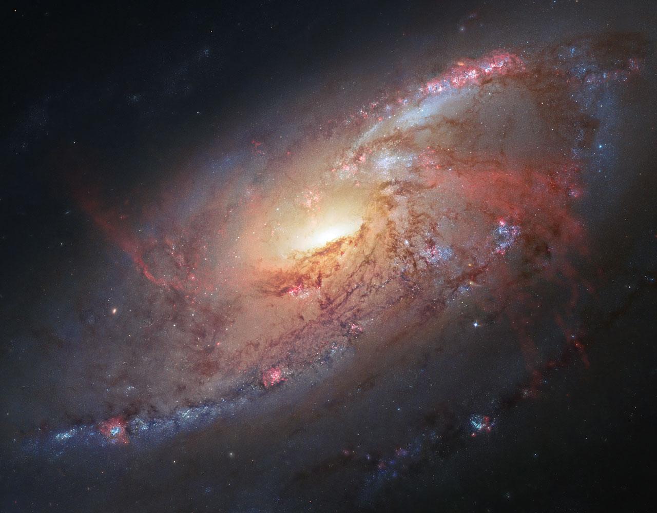 Orbiterch Space News A spiral galaxy with a secret