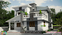 1738 Sq-ft Mixed Roof Villa Design - Kerala Home