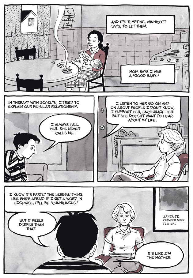 Page 24, Chapter 2: Transitional Objects from Alison Bechdel's graphic novel Are You My Mother
