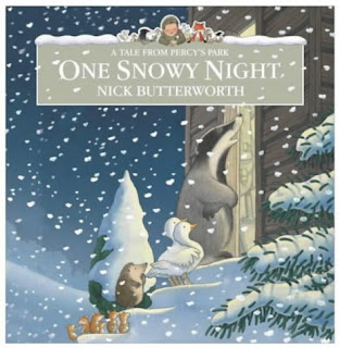 One Snowy Night (A Tale from Percy's Park) by Nick Butterworth