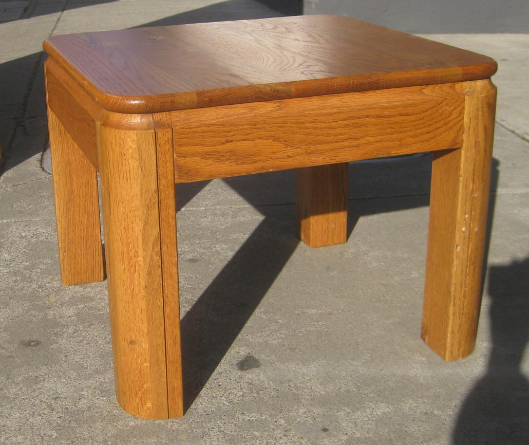 Sold Pair Of Oak End Tables 45