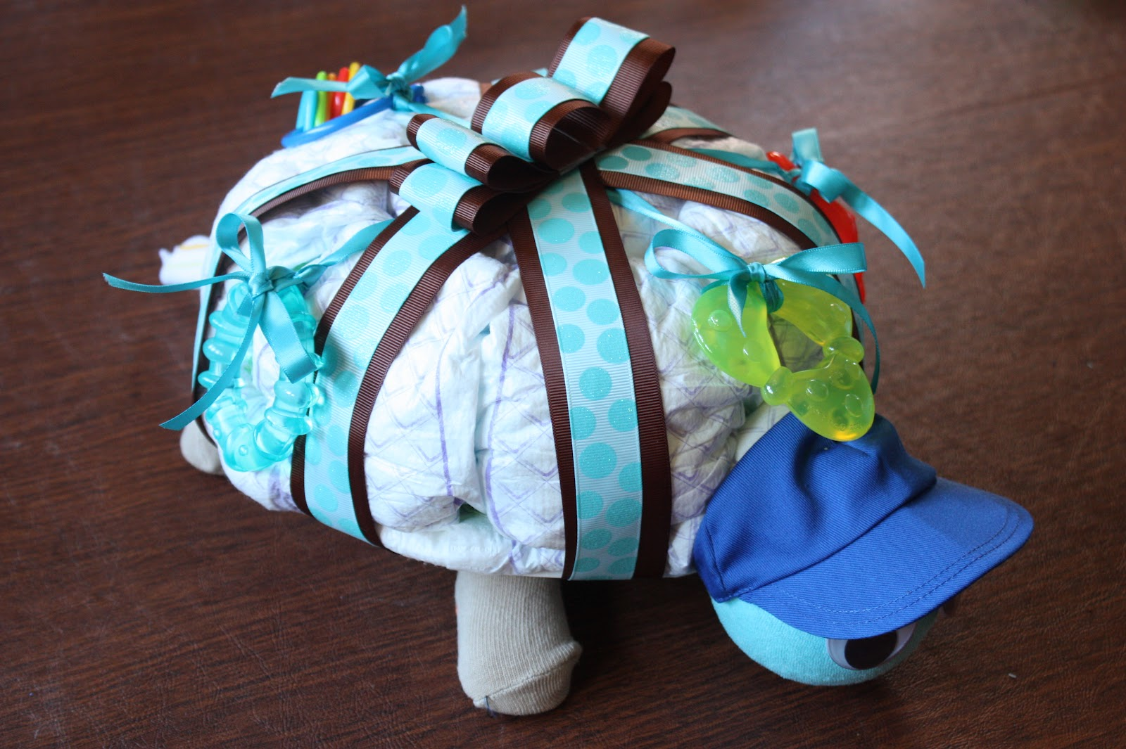 How To Make A Turtle Shaped Diaper Cake