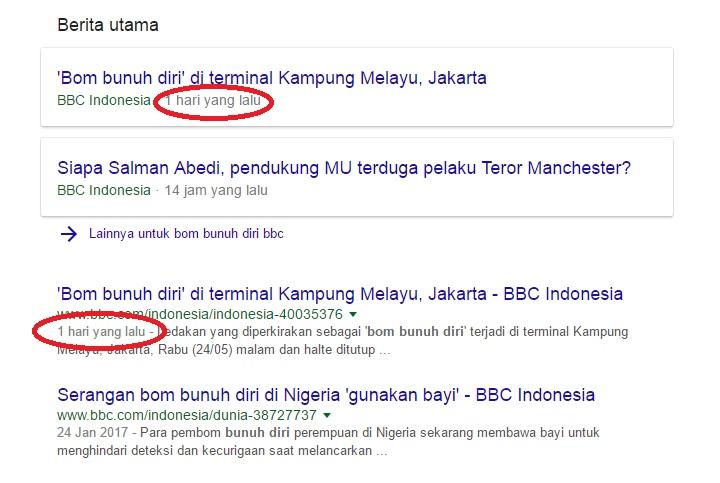 Bom Kampung Melayu BBC