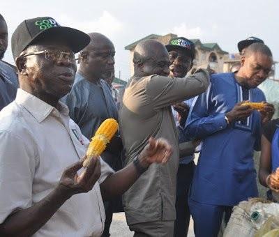 TRENDING: Oshiomhole, Obaseki eat corn on the streets of Benin