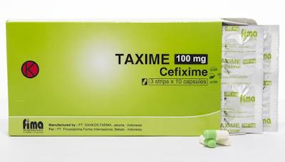 Taxime - Manfaat, Dosis, Efek Samping dan Harga