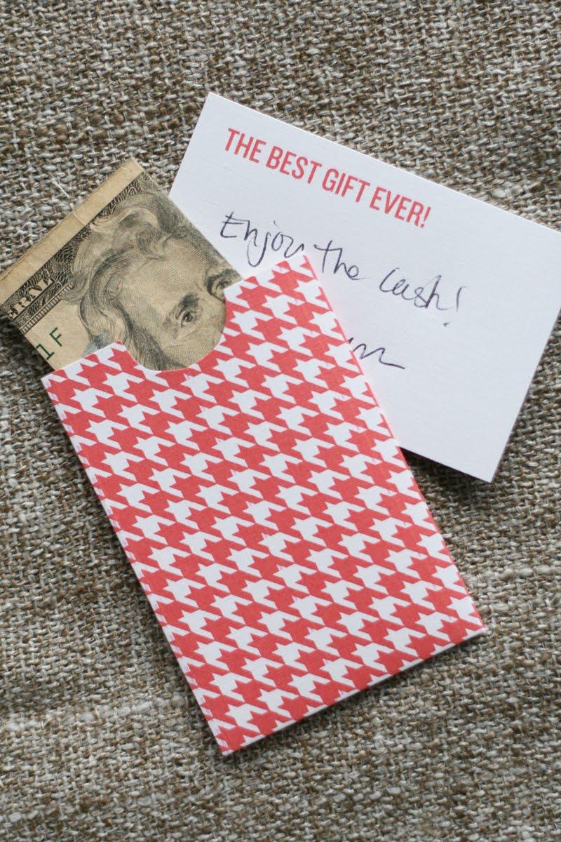 Lemon Squeezy: Day 20: Money gift holder