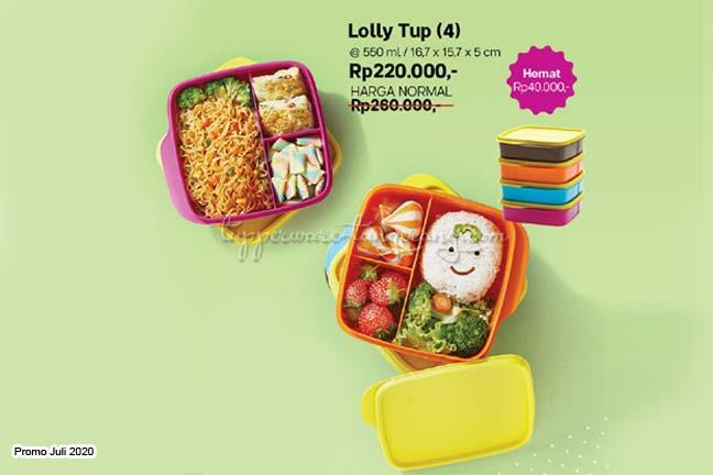 Lolly Tup Tupperware Promo Juli 2020,  Lunch box, Promo Tupperware Juli 2020, Tempat Makan/bekal, tempat makan, tempat bekal, lunch box
