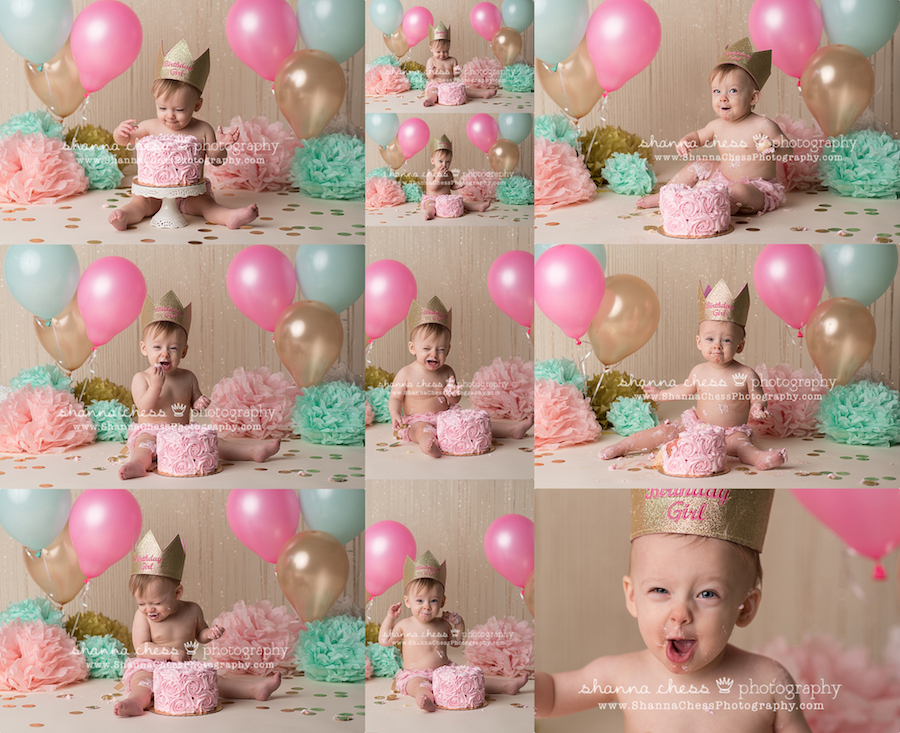 eugene, oregon baby photographer one year cake smash