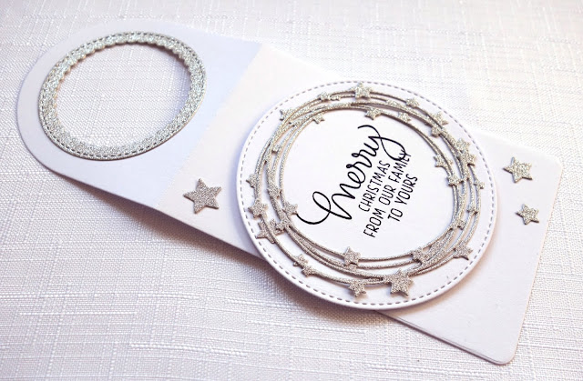 Handcrafted sparkly stars wine bottle tag