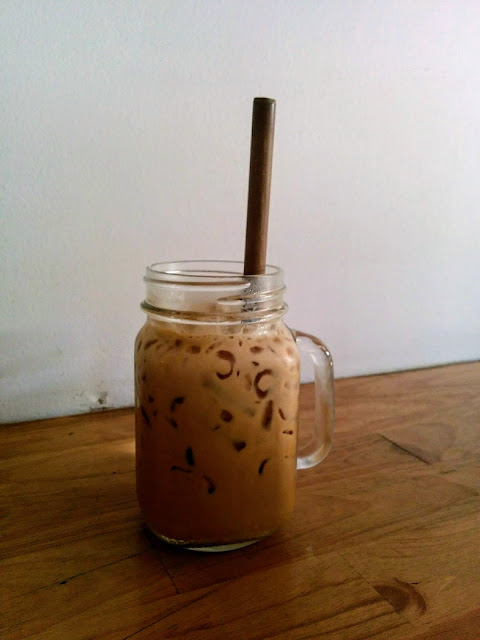 Iced coffee from Little Fox Espresso in Siem Reap Cambodia