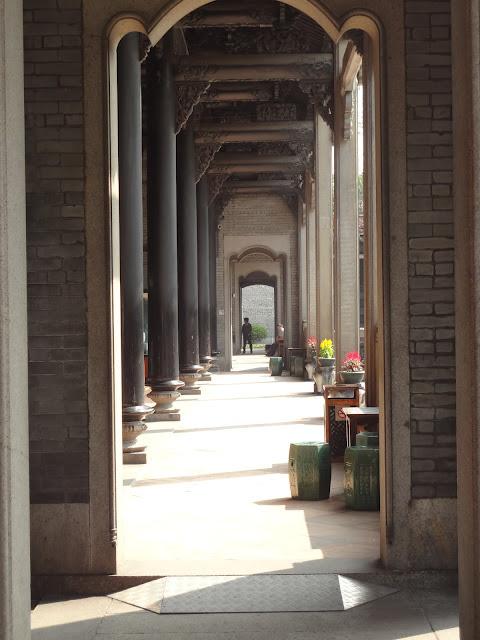 Pasillos del Hall ancestral de Clan Chen en Guangzhou