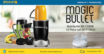 Magic Bullet Nutribullet RX 1700W 10 Piece Set