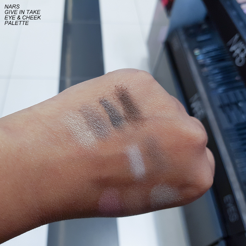 NARS Give In Take Dual-Intensity Eye and Cheek Palette - Swatches - Eyeshadows
