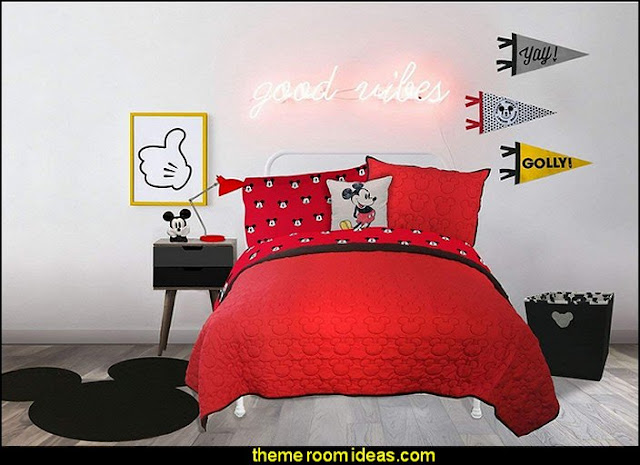 Mickey Mouse RED Quilt  Mickey Mouse bedroom ideas - Minnie Mouse bedroom decorating - Mickey Mouse bedding - Minnie Mouse Bedding - Mickey Mouse wall decals - Mickey Mouse Comforters - Disney bedding - Disney home decor - Mickey & Friends - Mickey Mouse furniture  - Minnie Mouse wall decals - Mickey Mouse wall decal stickers - Mickey Mouse murals