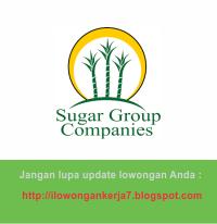 Lowongan Kerja PT Sugar Group Companies Terbaru