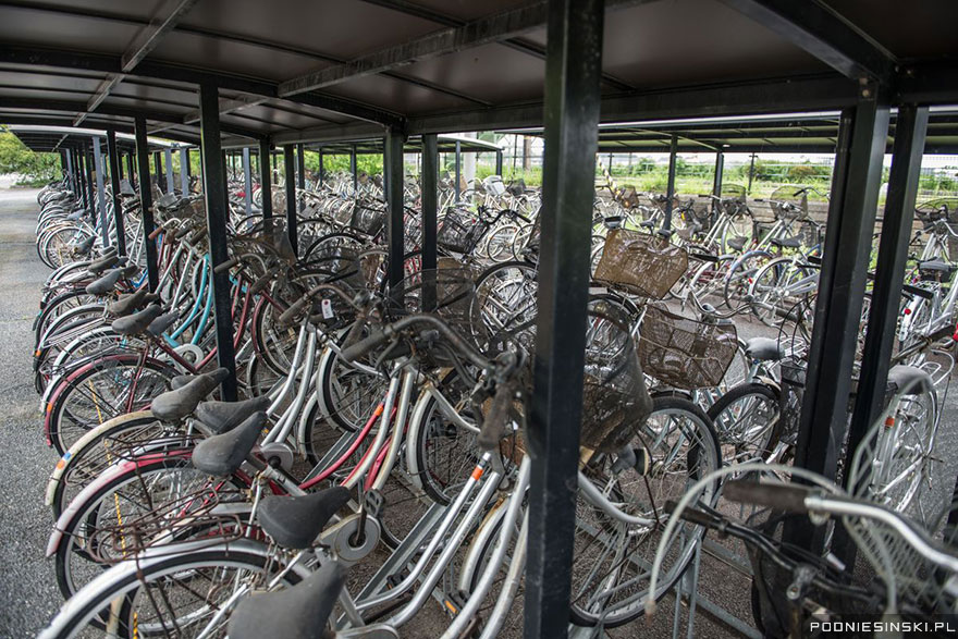 These bicycles were left behind when residents fled - Never-Before-Seen Images Reveal How The Fukushima Exclusion Zone Was Swallowed By Nature
