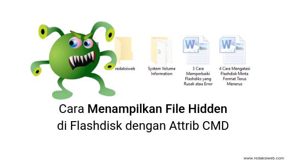 Cara Menampilkan File Hidden di Flashdisk dengan Attrib CMD
