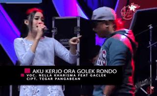 Lirik Lagu Aku Kerjo Ora Golek Rondo - Nella Kharisma Ft Adi Gaclex