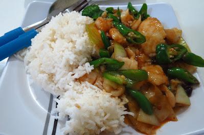 Tian Fu Ren Jia (天府人家), sliced fish with black bean sauce rice (豉汁鱼片饭)