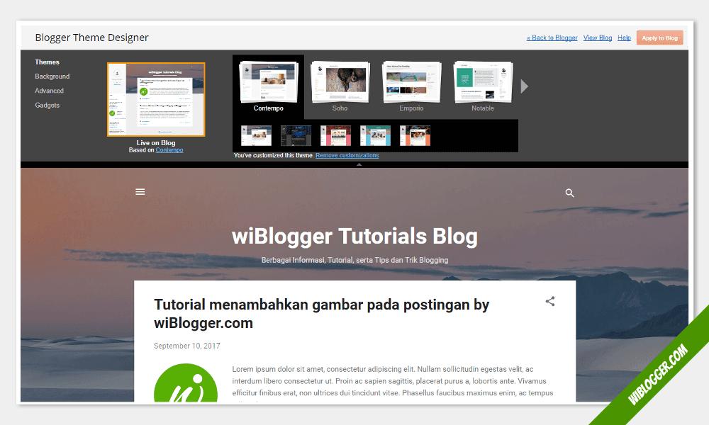 Tentang blogger theme designer