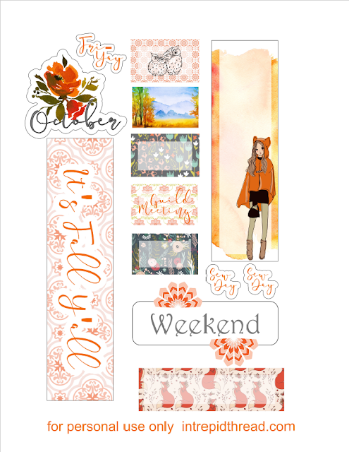 Free Planner Stickers from The Intrepid Thread