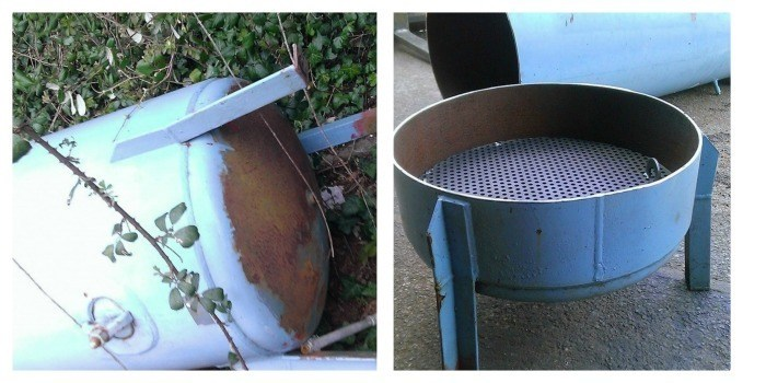 how to make an upcycled fire pit
